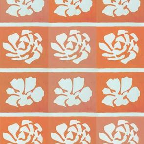 Orange Pink Stencil Block