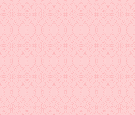 Filigree Lace: Millennial Pink Tracery fabric by dept_6 on Spoonflower - custom fabric