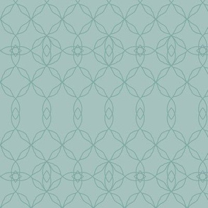 Filigree Lace: Watery Blue Green