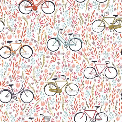Large Scale Spring Bicycles on White
