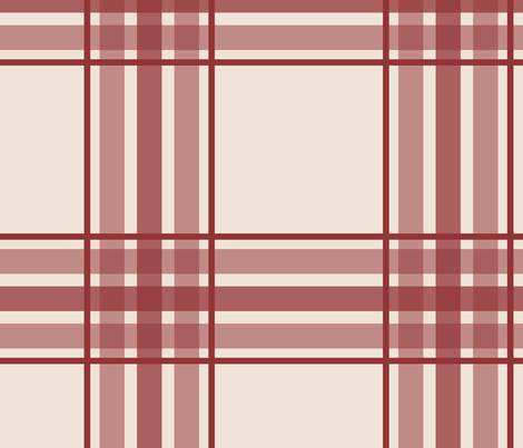 farmhouse plaid in brick red and cream fabric by mel_fischer on Spoonflower - custom fabric