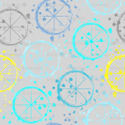Watercolor wheels