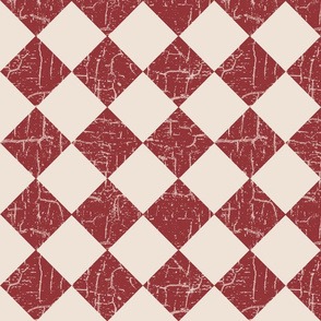 rustic farmhouse checkerboard brick red