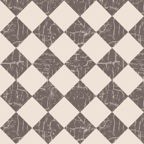 rustic farmhouse checkerboard in taupe