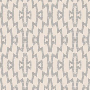 farmhouse diamond pattern in gray and cream