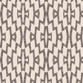 Farmhouse diamond pattern in taupe brown and cream