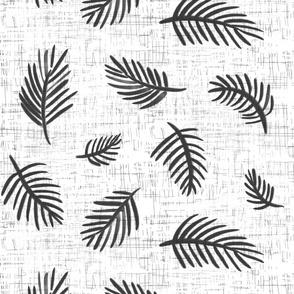 linen palm leaves