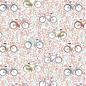 Spring Bicycles on White