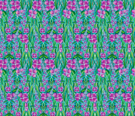 Fireweed fabric by lovefromalaska on Spoonflower - custom fabric
