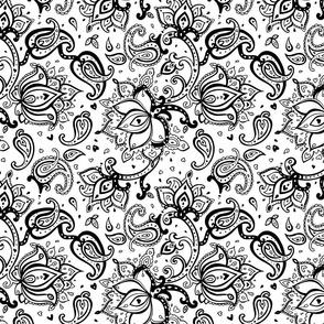 Hand Drawn Floral vintage Pattern