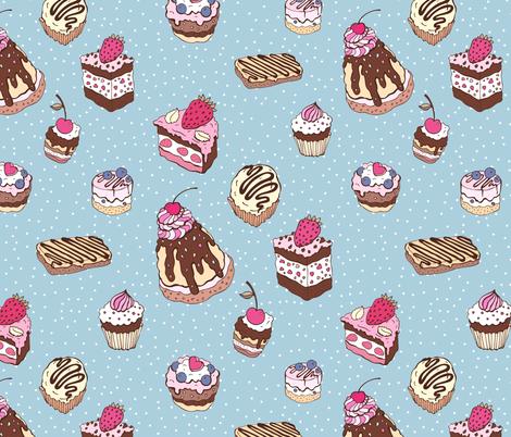 Cupcakes fabric by katyau on Spoonflower - custom fabric