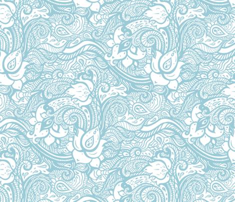 Paisley Hand Drawn fabric by katyau on Spoonflower - custom fabric