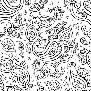 Paisley. Hand Drawn ornament