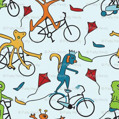 Biking Monster Club - Blue - Small