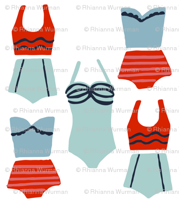 Swimsuits By the Seashore
