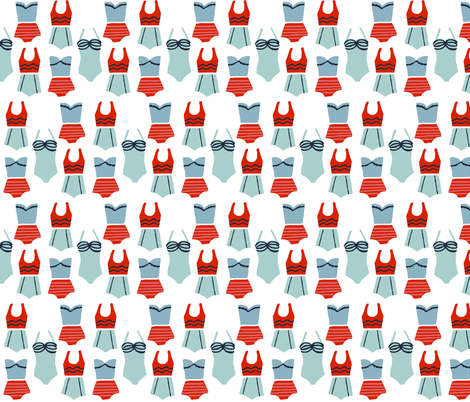 Swimsuits By the Seashore fabric by ellolovey on Spoonflower - custom fabric