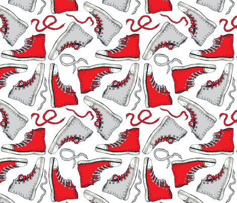 Sneakers fabric by katyau on Spoonflower - custom fabric