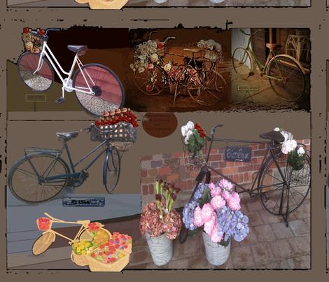 bike day fabric by art_by_rita on Spoonflower - custom fabric
