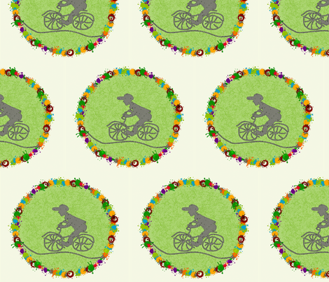 Bicycle fabric by tink-a-bel on Spoonflower - custom fabric