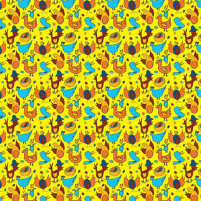 Crazy Birds - Yellow - Small