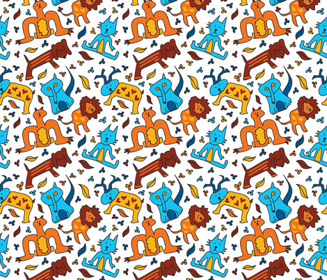 Crazy Animals fabric by whyitsme_design on Spoonflower - custom fabric