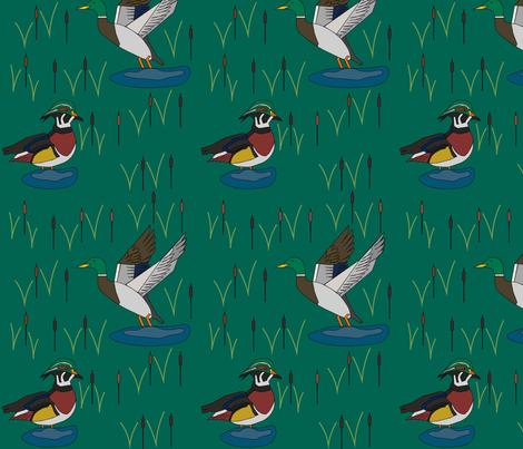 Mallard & Wood Duck fabric by uniquely_fabric on Spoonflower - custom fabric