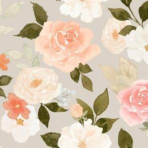 Vintage Pastel Floral