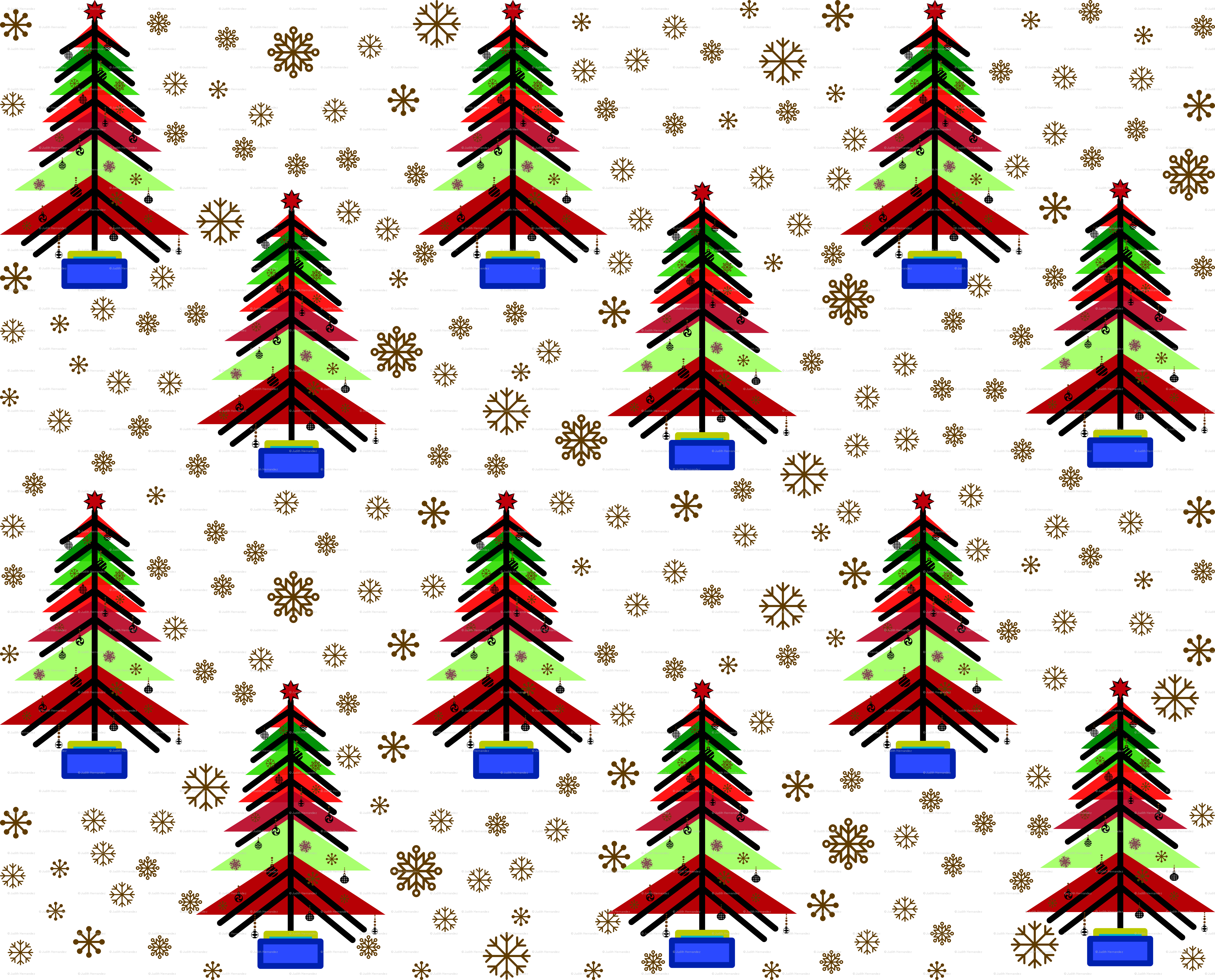 Bauhaus Christmas tree. wallpaper - evault - Spoonflower