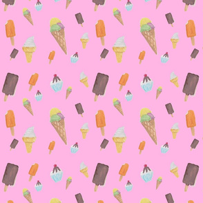 pink ice cream