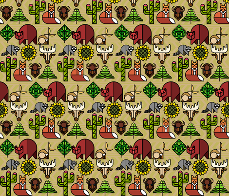 South by Southwest fabric by wepop on Spoonflower - custom fabric