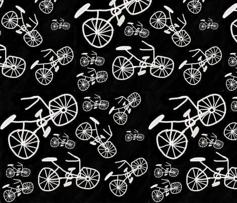 I like to ride my bicycle fabric by hellofelecia on Spoonflower - custom fabric