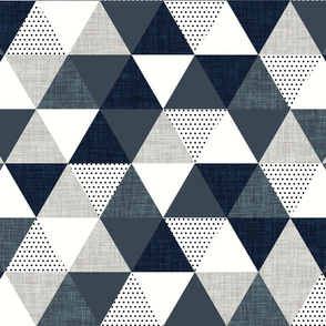 slate and navy triangle wholecloth // half scale