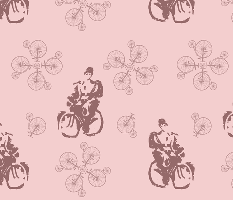 Pedaling the Path to Freedom fabric by ricerafferty on Spoonflower - custom fabric