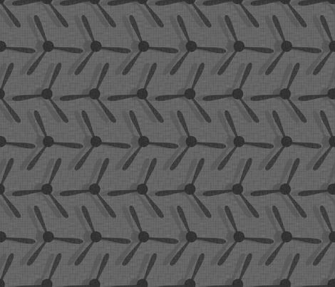 3 blade propellers on gray fabric by studioxtine on Spoonflower - custom fabric