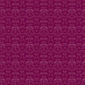 Marrakesh Deep Burgundy with light scroll work