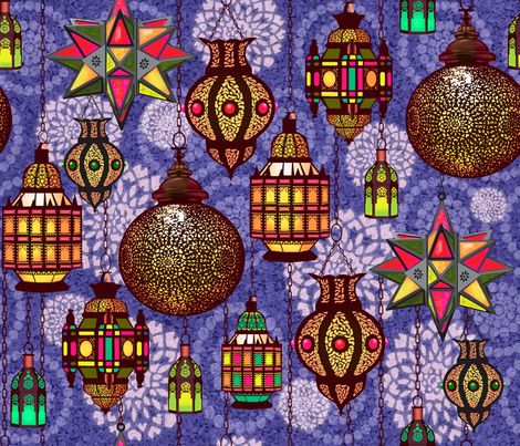 Marrakesh Lanterns fabric by vinpauld on Spoonflower - custom fabric