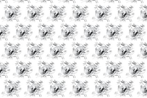 Sleepy Koala, Railroaded fabric by thistleandfox on Spoonflower - custom fabric