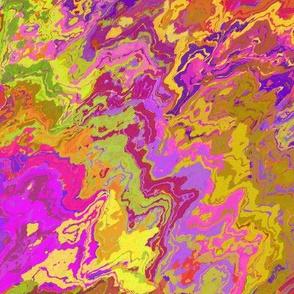 Painted Organic Swirls, Multi Colors