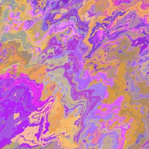 Painted Organic Swirls, Purples