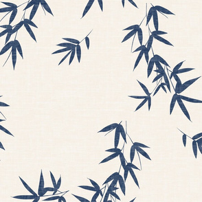 Denim Bamboo Leaves