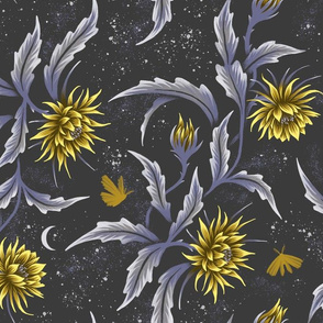 Queen of the Night - Grey / Yellow - Andrea Muller