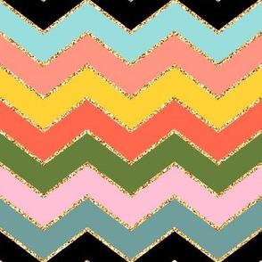 Tropical Chevron Glitter (Color 2)
