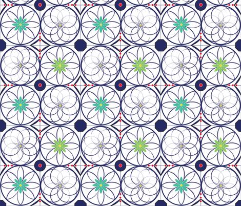 MarrakeshTiles multi fabric by colour_angel_by_kv on Spoonflower - custom fabric