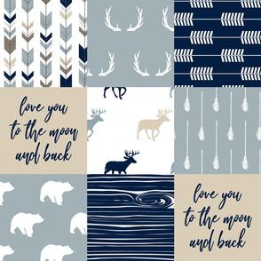 Little Adventurer Blue Wholecloth  (love you)