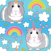jumbo unicorn guinea pigs and rainbows