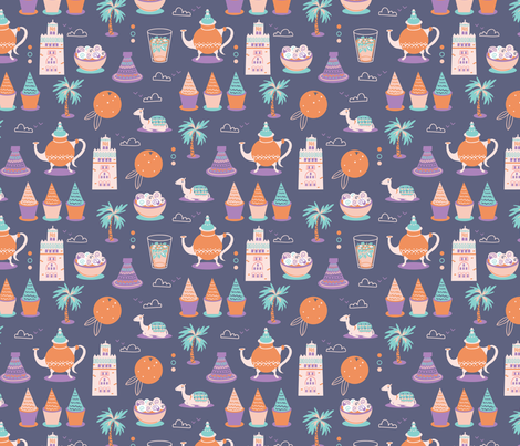 Mini Marrakesh fabric by ellodesign on Spoonflower - custom fabric