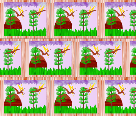 SpoonflowerFlying dinosaurs-4-29 2018 fabric by compugraphd on Spoonflower - custom fabric