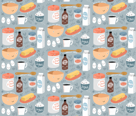 Let's Bake (2018) fabric by anda on Spoonflower - custom fabric