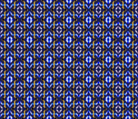 ikat allover-ultramarine fabric by anneke_doorenbosch on Spoonflower - custom fabric