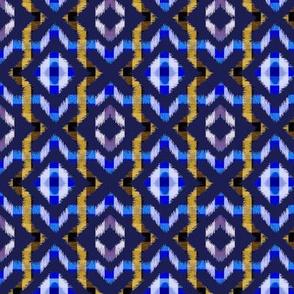 ikat allover-ultramarine